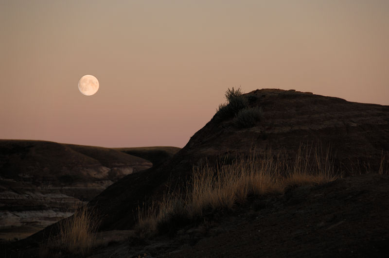 Moonrise In The Badlands
