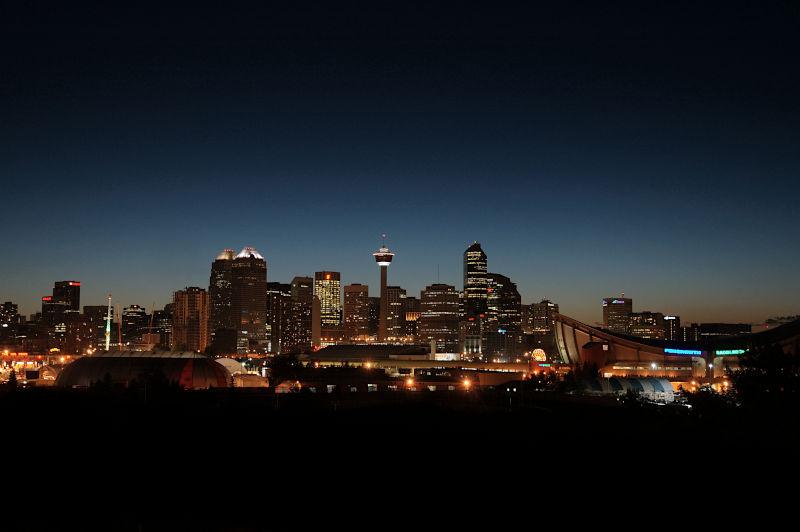 Nightime Calgary